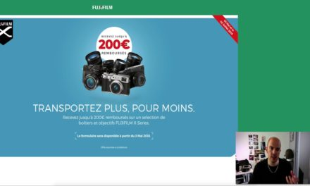 Promotion Fujifilm Printemps 2018