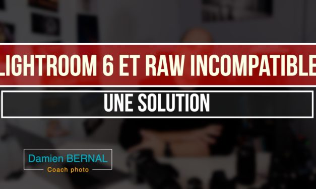 Lightroom 6 (LR6) & Raw incompatible : Une solution ?