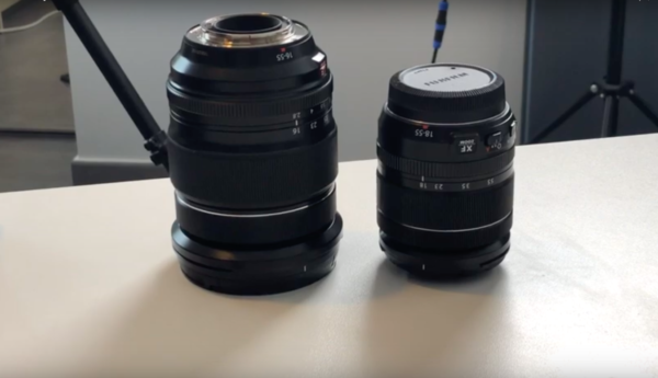 Comparatif taille XF 16-55 vs XF 18-55